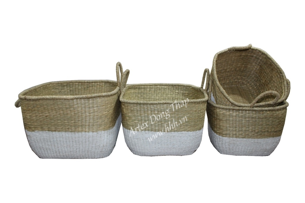 Seagrass basket for home decoration and furniture - BH3291A-4MC