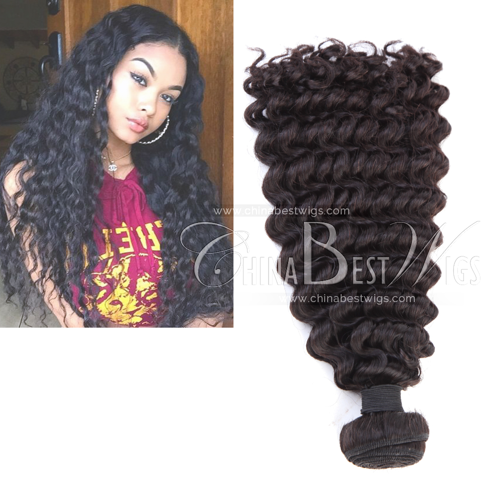 curly virgin hair double weft hair extensions