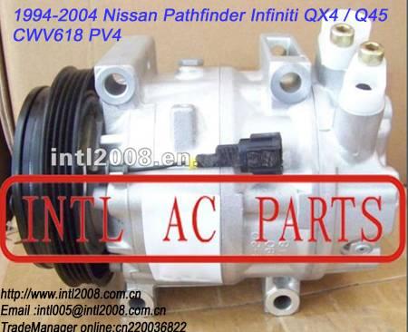 AC Compressor CWV618 PV4 1994-2004 1995 1996 1997 1998 1999 2000 2001 2002 2003 2004 Nissan Pathfind