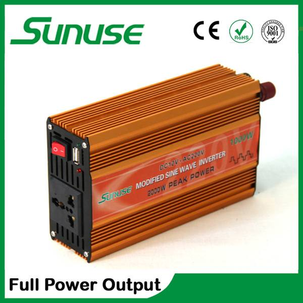 Full power output off grid 1000w power inverter DC 12/24v to AC 110/220v with CE