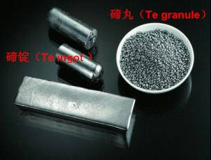 Tellurium Metal, Tellurium Ingot, Tellurium Powder with High Purity (99.99%)