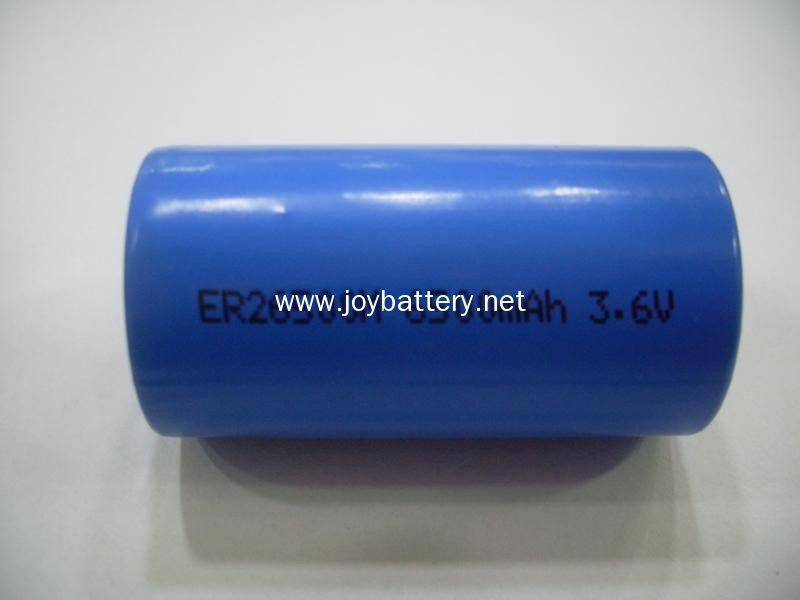 3.6 volt 6.5Ah C size high energy type lithium battery ER26500M for gps