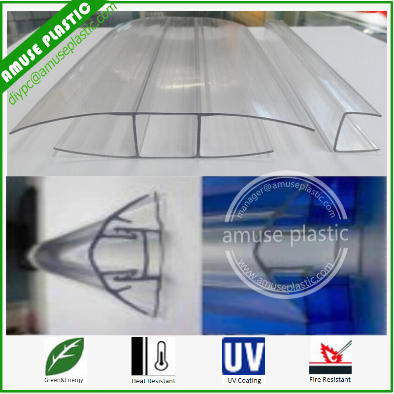 Transparent Plastic Polycarbonate Accessories for PC Sheets Connecting Wholesale
