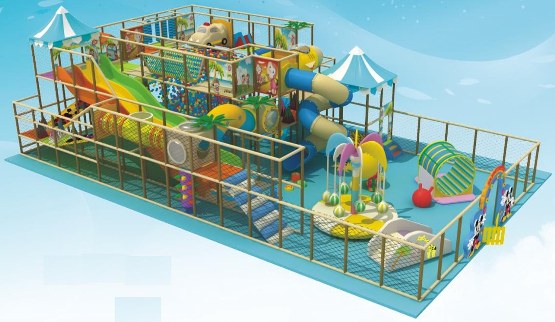 Cute mall kids indoor play structure