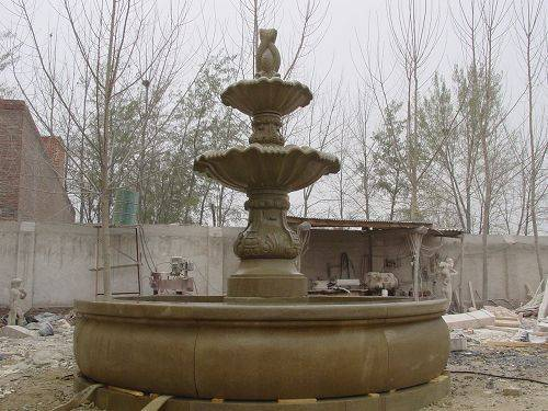 Marble carved stone fountain