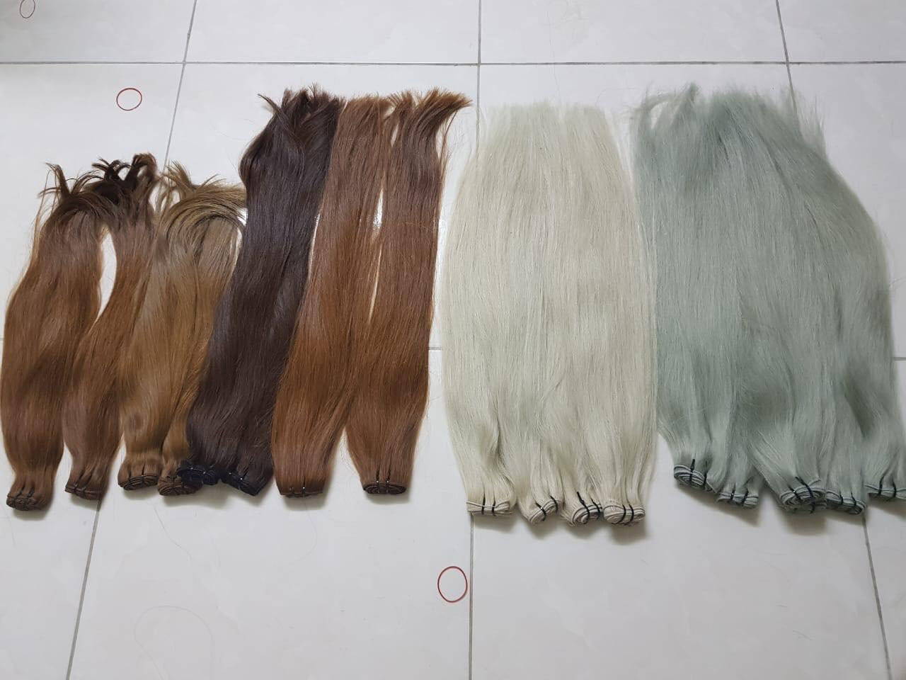 colored weft hair extensions vietnamese hair 100% remy hair