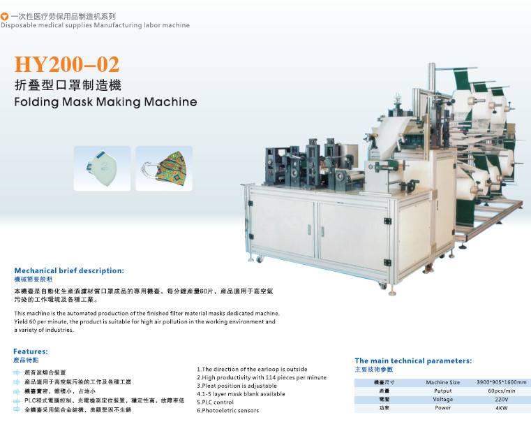 Folding Mask Making Machine