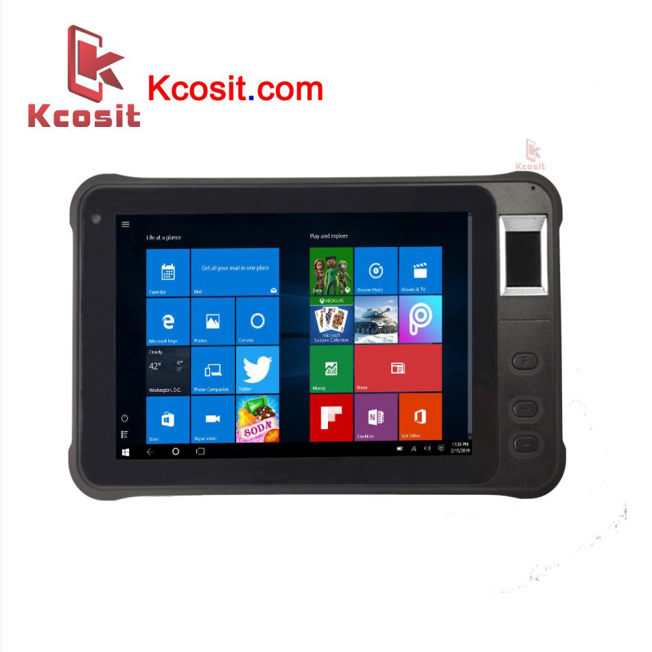 "Rugged Windows Tablet PC Fingerprint UHF RFID Reader 7"" High Brightness 2D Barcode scanner"