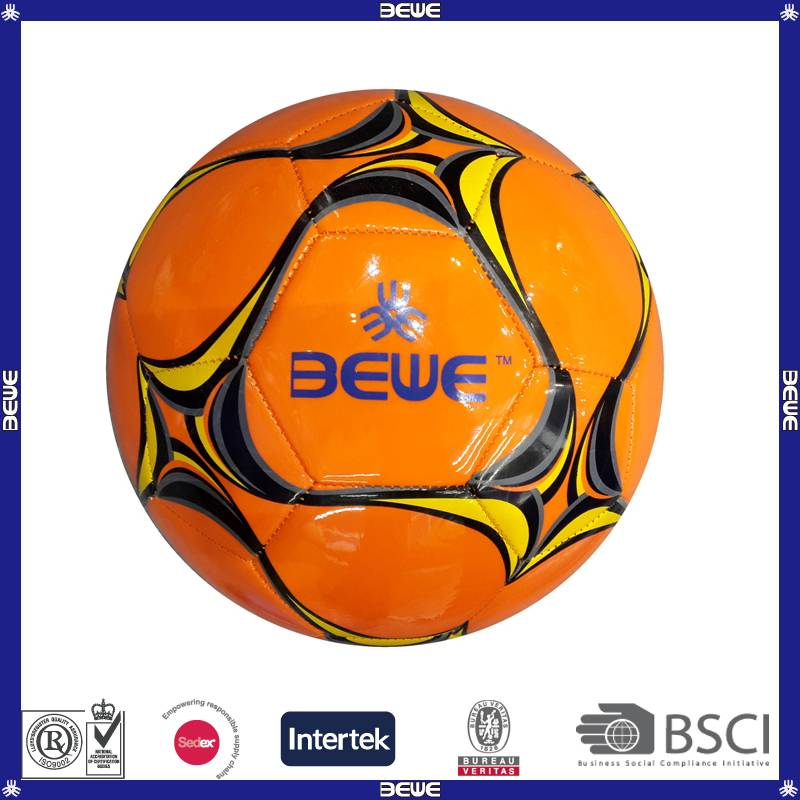 China supplier promotional glossy pu soccer ball