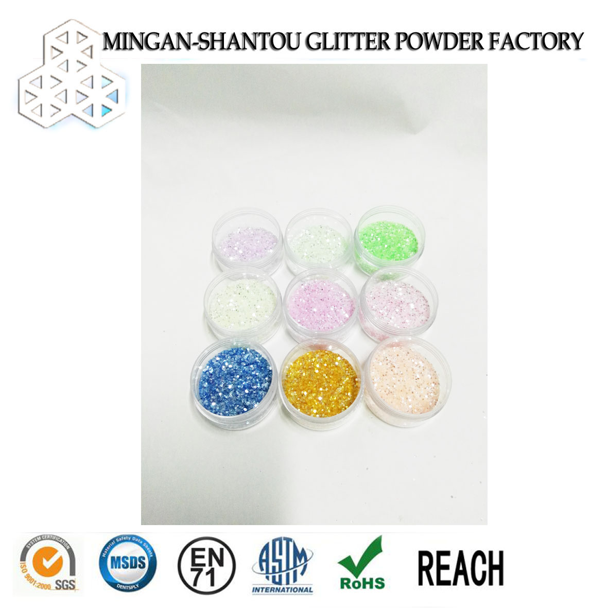 shining pet rainbow fluorescent glitter powder for sport shoes