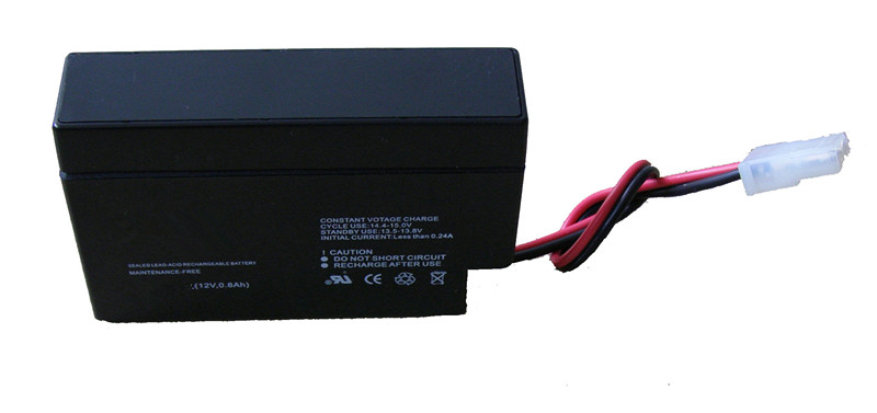 12v0.8ah sealed lead acid rechargeable battery
