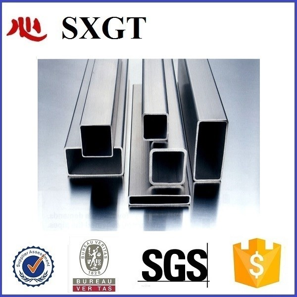 Rectangle steel welded black tube