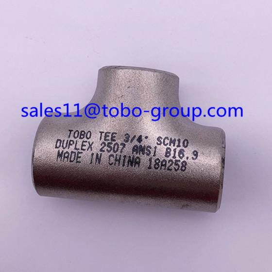 TOBO Butt-welding Equal Tee Nickel alloy 20 4'' sch40 ASME B16.9