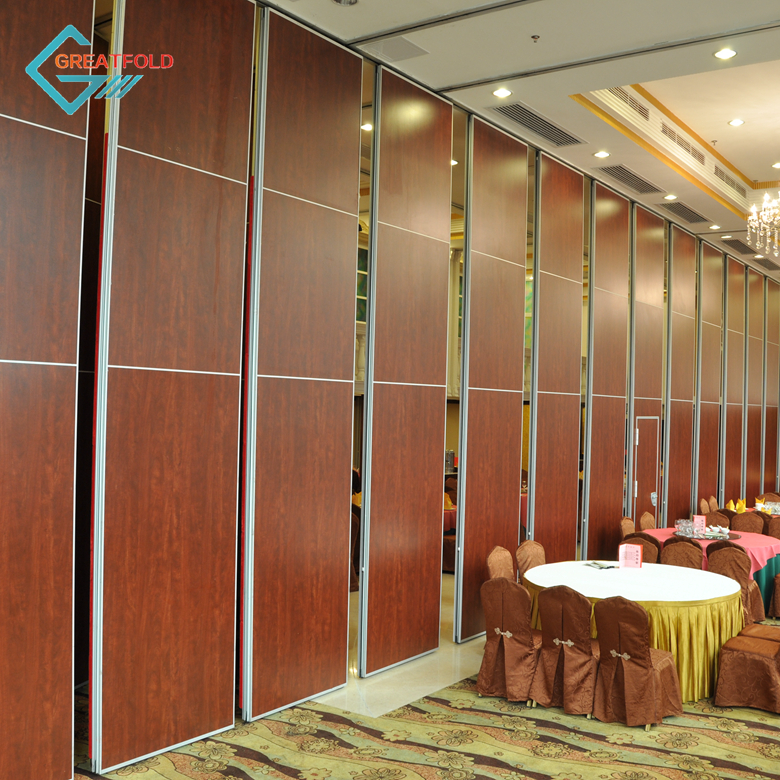 Removable acoustic partition wall sliding folding partition for restaurant interior