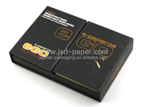 GB-L095 Matt black custom design paper type packages box for accesories