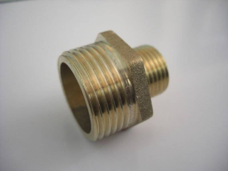 Factory Direct Brass thread reducer  NTP from China Brass nipple connector