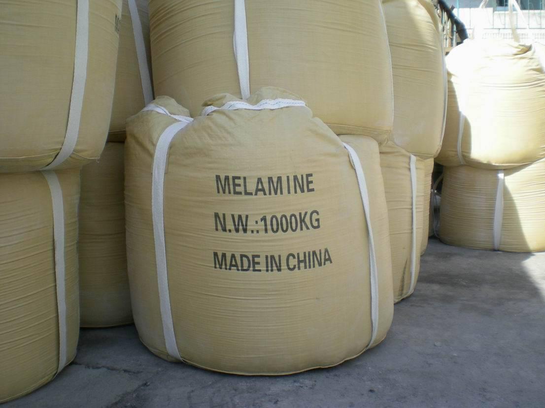 melamine used in flame accelerant
