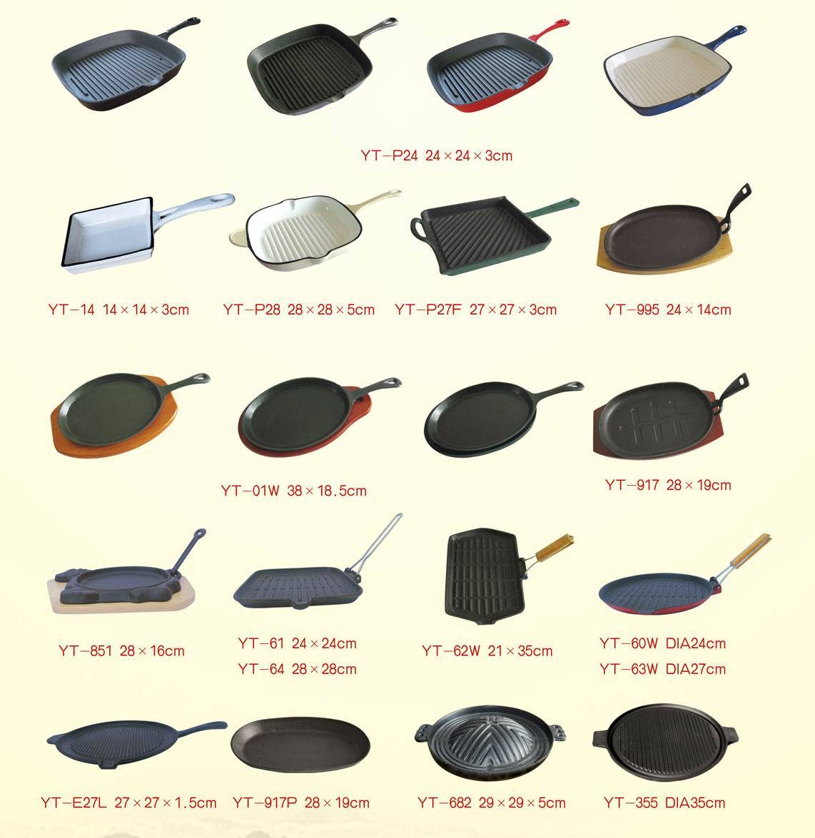 Cast iron cookware and bake ware frying pan skillets