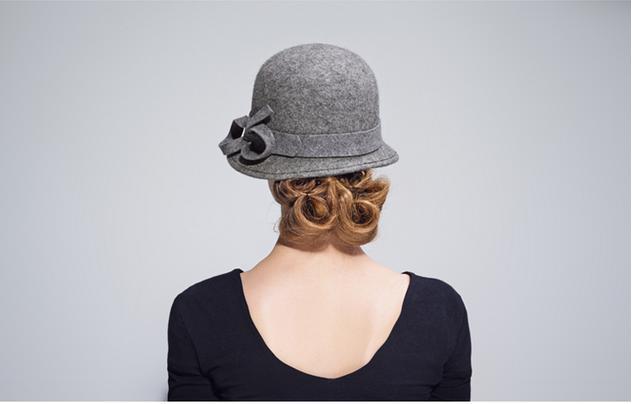 Girls Bowler hats 100% wool ladies felt hat
