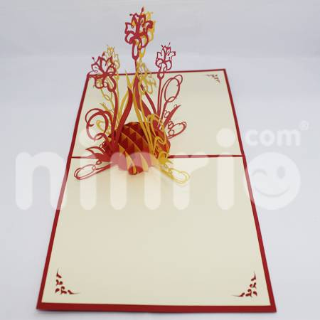 Madonna lily Pop Up Card Handmade Greeting Card