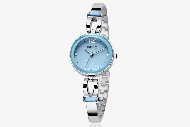 Latest fashion style brand waterproof chain alloy watches womens ladies silver-color watches