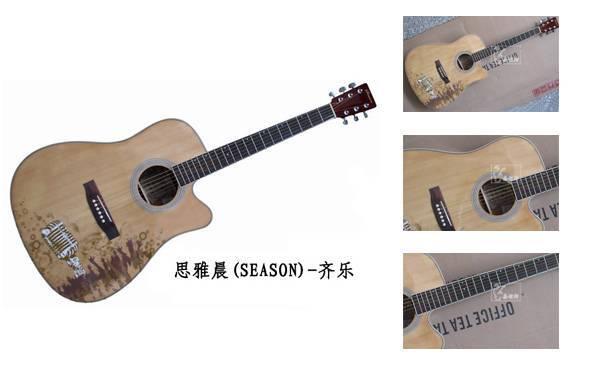 """guangzhou 41"""" log guitar"""
