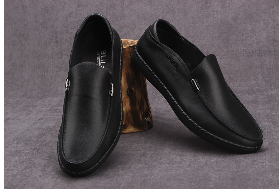 leisure safety men leather shoes