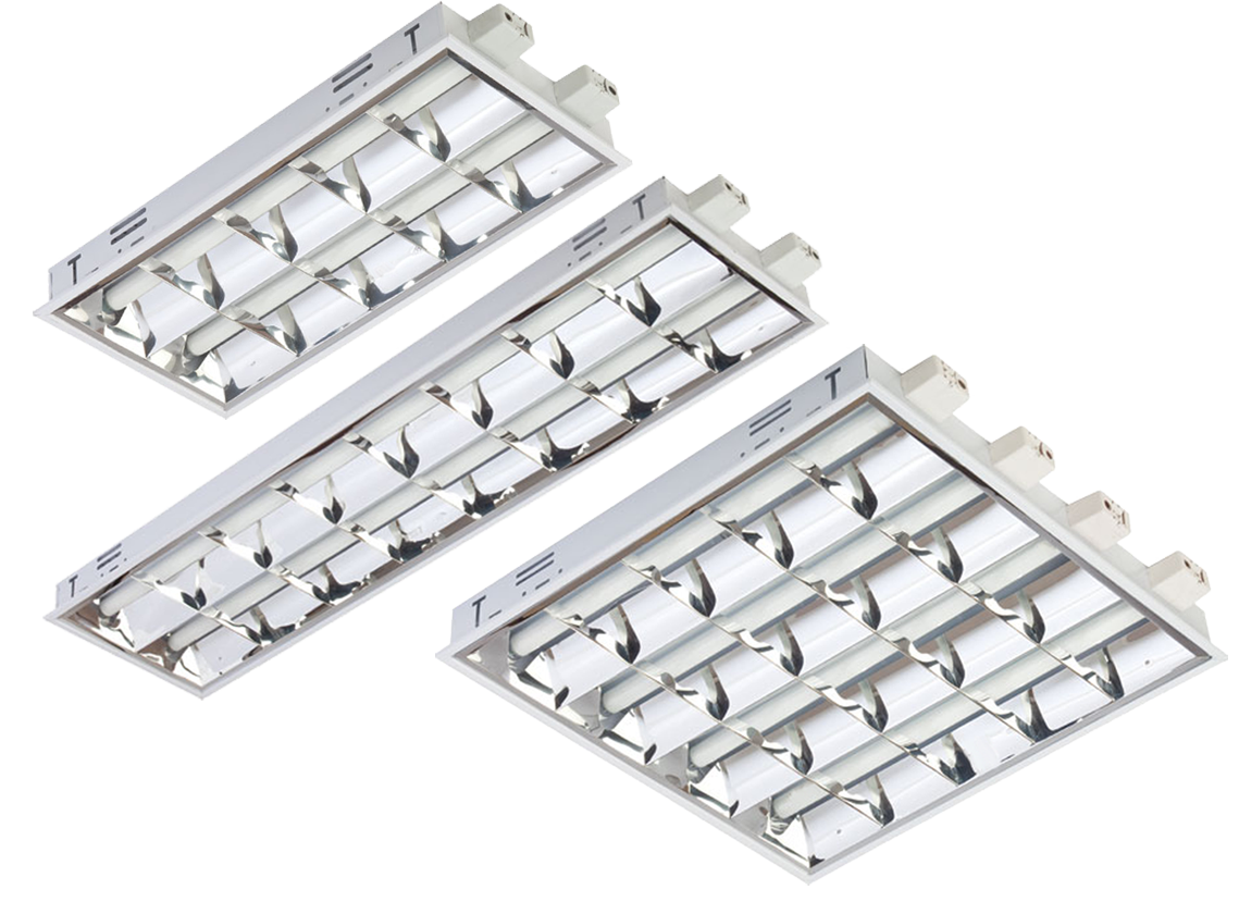 Recessed Double Parabolic Lighting Fixture