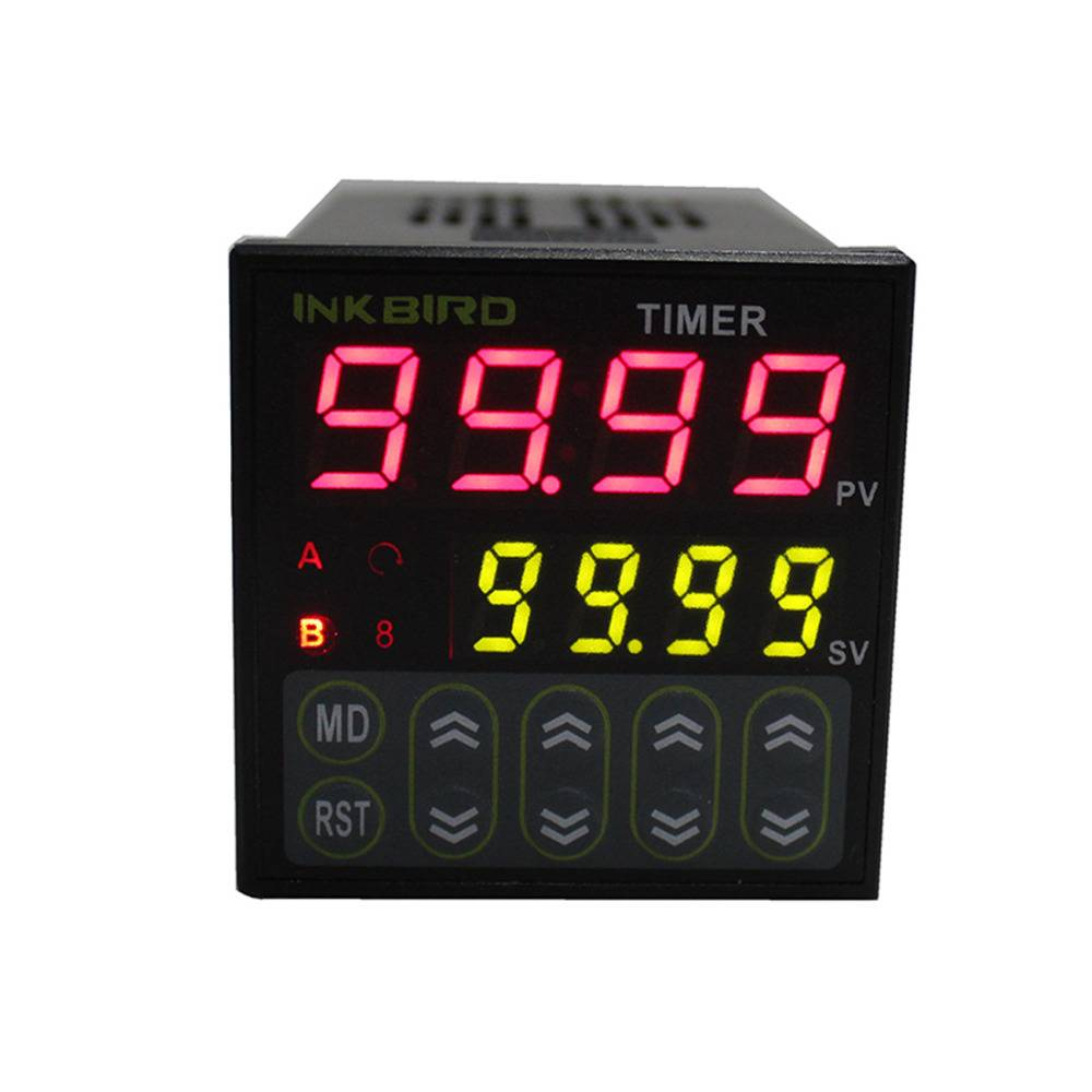Inkbird Digital Twin Timer Relay Time Delay Relay Switch 110-220V NPN/PNP Voltage input IDT-E2RH