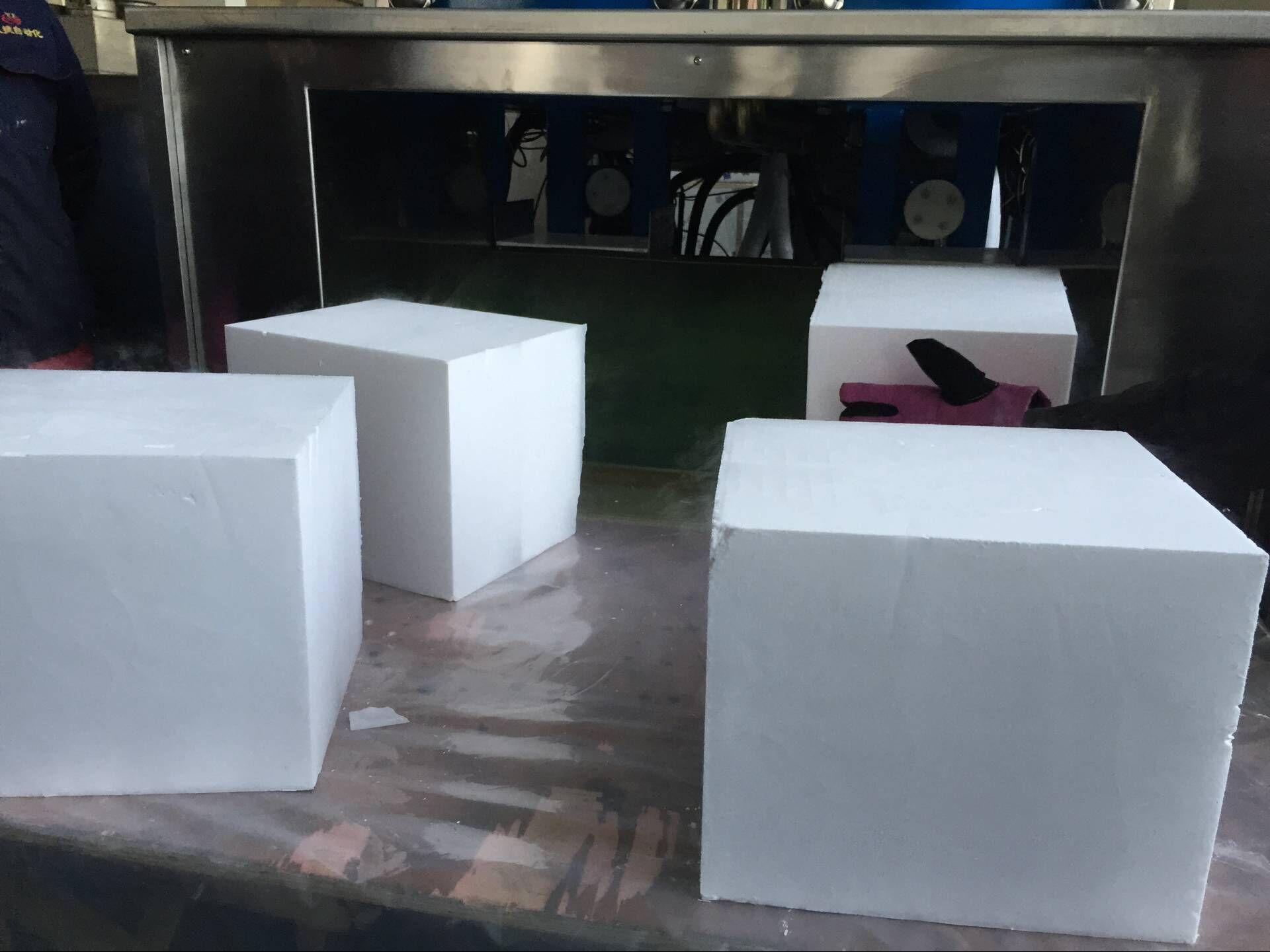 Sinocean JHK800 Dry Ice block Machine producing 30kg dry ice blocks