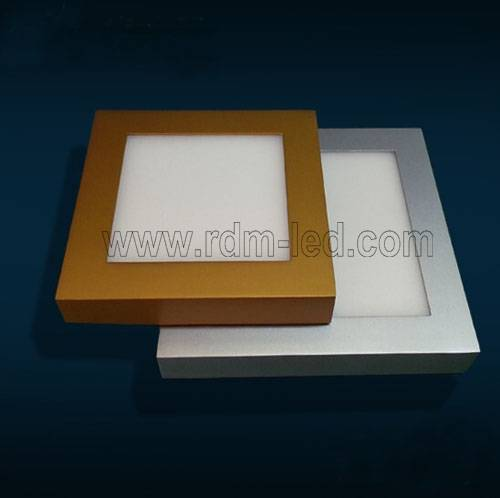 6W 12W 18W 24W Gold Silver Black Color Square LED Panel Light AC85-265V Surface Mounted LED Ceiling