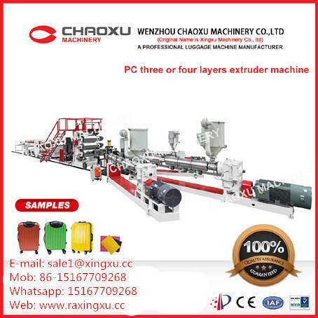 PC Three or Four Layer Plastic Plate Sheet Extruder Production Machine