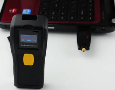 433Mhz wireless Barcode Reader with screen,ideal for warehouse management