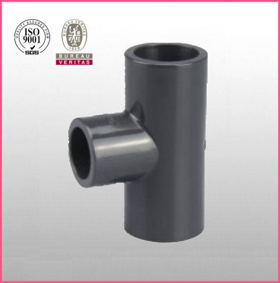 HJ brand UPVC ASTM D2467 SCH80 pipe fitting reducing tee