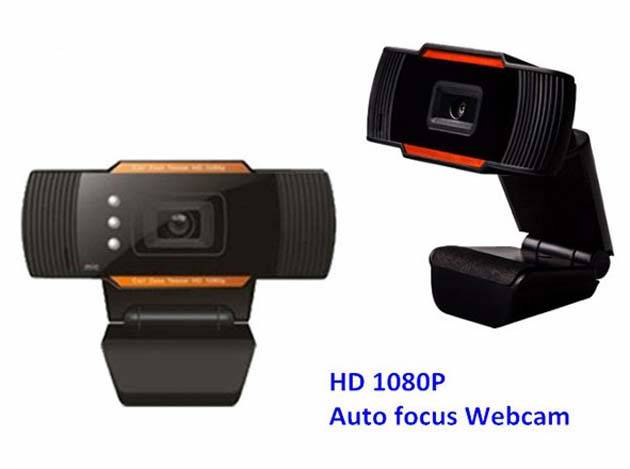 HD 1080P webcam with led light