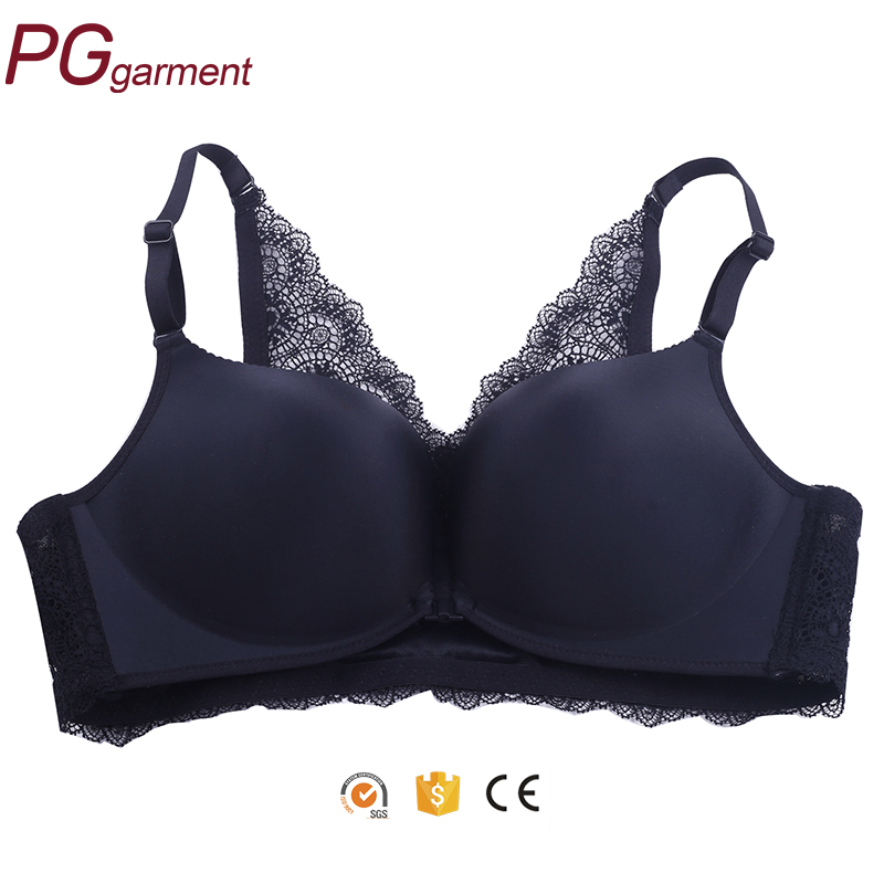 seamless vest full cup no rims lace 2017 latest design hot sexy black ladies new model bra