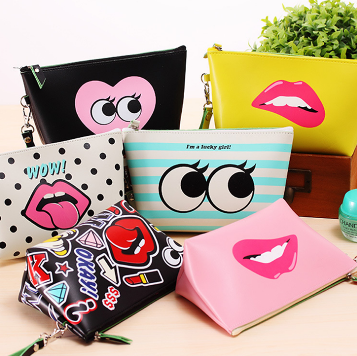 Wholesale Colorful Cosmetic Bags Customized Size and Pattern