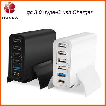 QC 3.0 60w Multiple UK US EU AC USB Charger, 5v 3a Type C USB Charger for Samsung S7