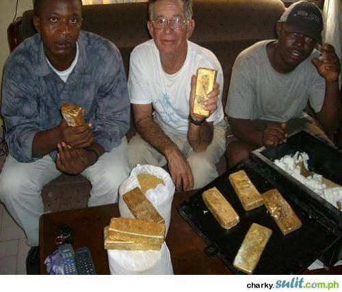 Gold bars and nuggets for sale.
