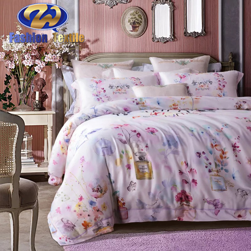 Popular bed sheet santa bedding set made in china