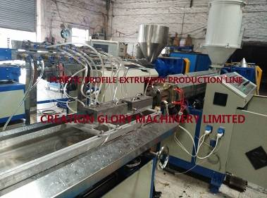 Stable running PP PE profile plastic extrusion production machine