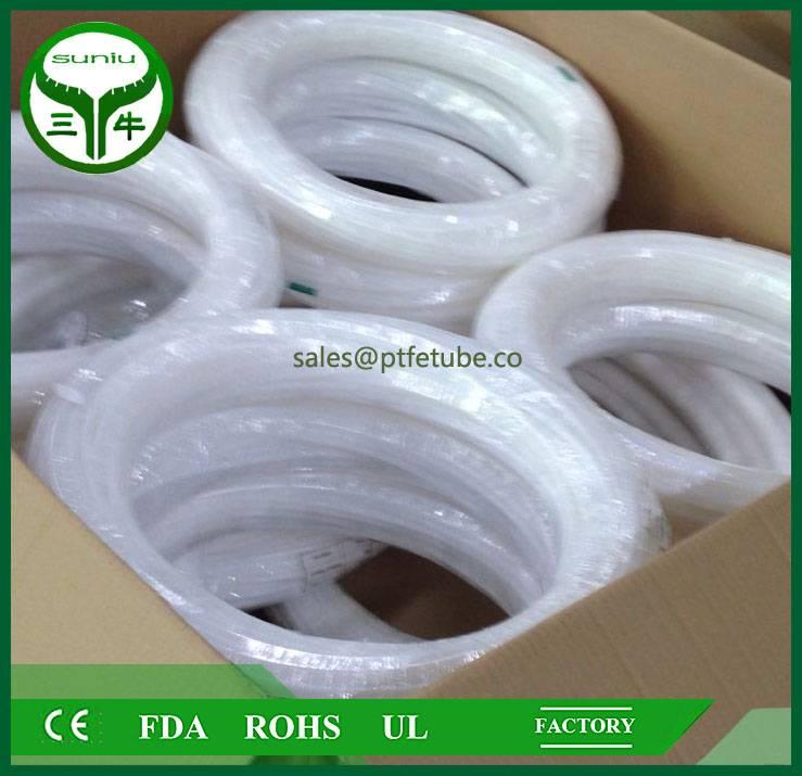 100% virgin 1/4 inch ptfe teflon tubing , ptfe convoluted tube pipe hose tube / suniu
