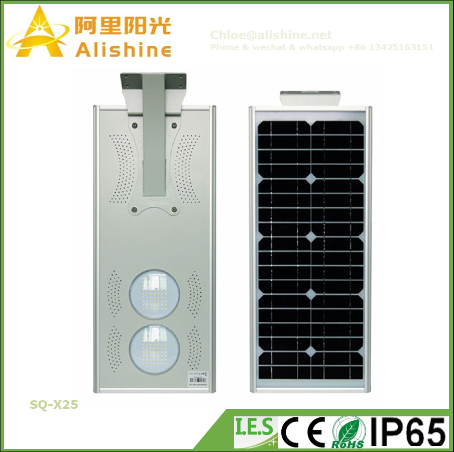 New 25W Intagreted LED Solar Garden Light with Smart Time Controller