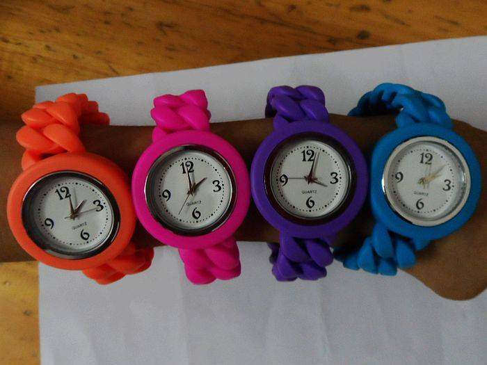 candy twisted silicone watch promotional silicone watches