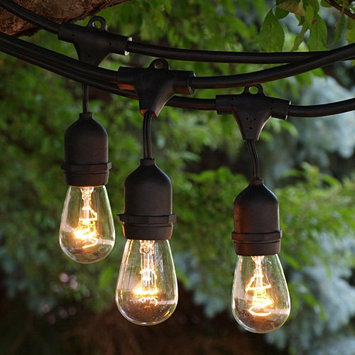 UL CE E26 Sockets S14 incandescent bulb indoor/outdoor commercial patio string lights