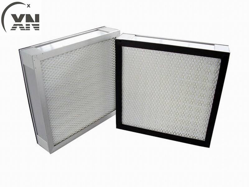 High Efficiency Mini-Pleats H13 Panel HEPA Filter
