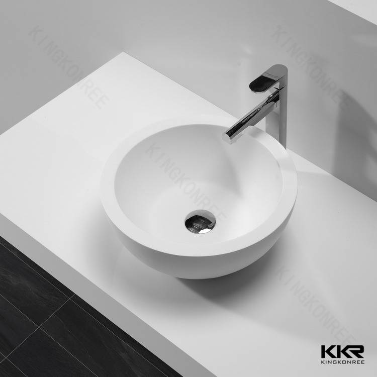 Artificial resin stone solid surface basin