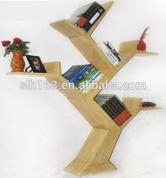 cheap and hot sale modern bookcase/bookshelf by Guangzhou Manufactuer