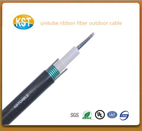 Unitube Ribbon cable/Central Loose Tube Ribbon Fiber Outdoor Cable lower price optical fiber cable
