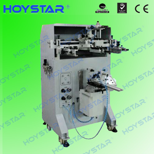 semi automatic single color cylinder screen printing machine for PET/pp/plastic bottle